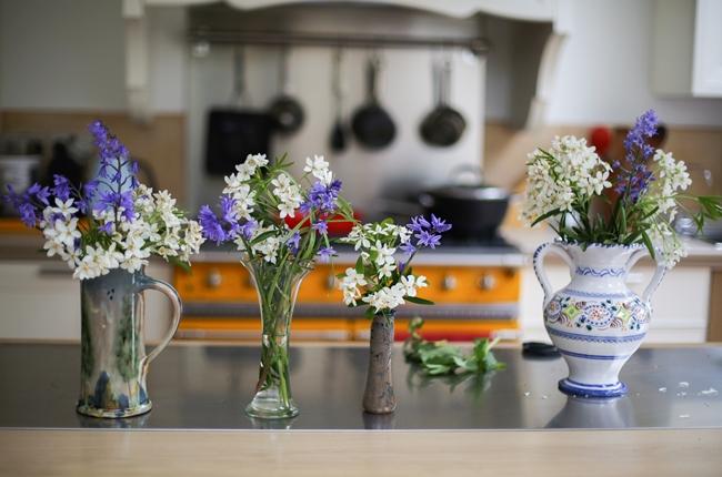 Flores na cozinha