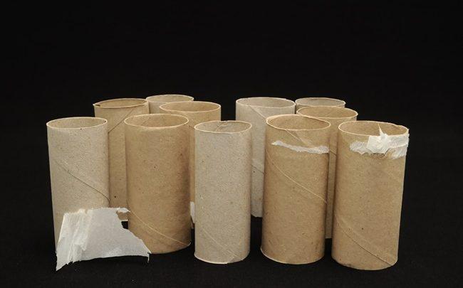 Reutilizando os rolinhos do papel higiênico