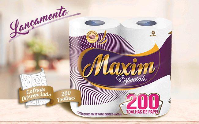 SEPAC lança a toalha de papel Maxim Especiale
