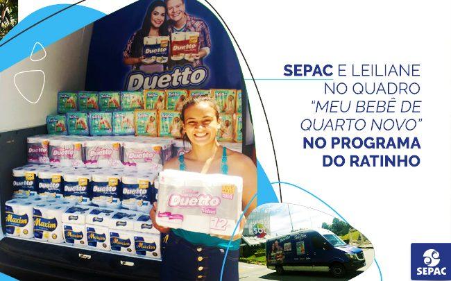 SEPAC e Leiliane no Programa do Ratinho - SEPAC