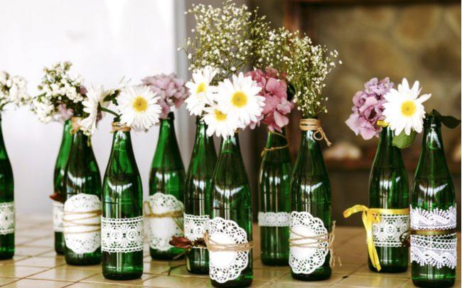 Como utilizar garrafas de vidro na decoração - SEPAC