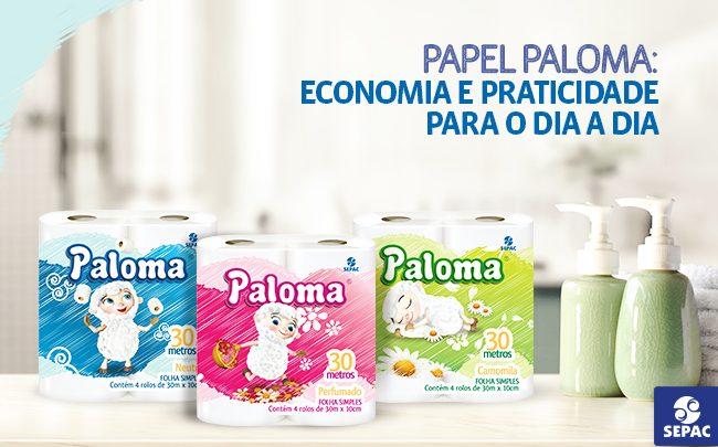 Papel Paloma - folha simples mas com suavidade dupla - SEPAC