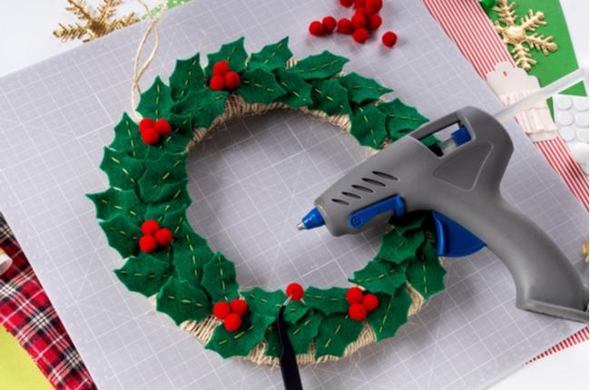 decoração natalina feltro SEPAC