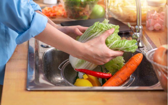 como limpar alimentos - SEPAC