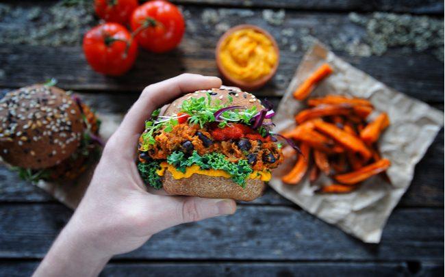 hambúrguer delicioso e colorido - SEPAC