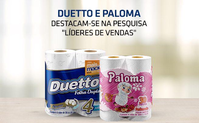 Papel higiênico Paloma e Duetto líderes de vendas - SEPAC