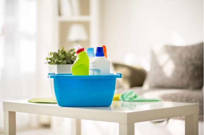 produtos para uma limpeza minimalista