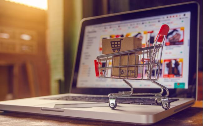 Compras online via desktop e app