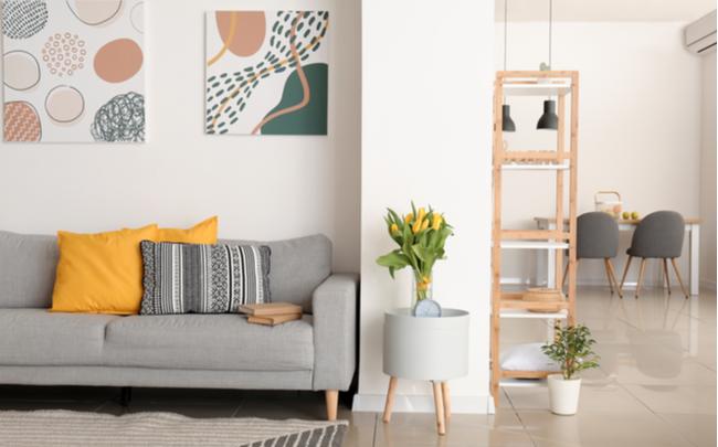 Ambiente com decoração minimalista