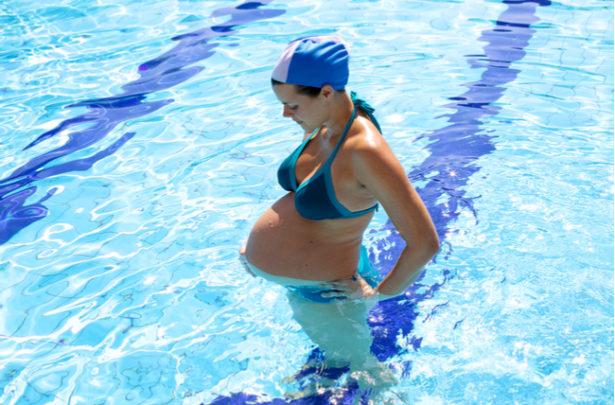 Hidroginástica na gravidez