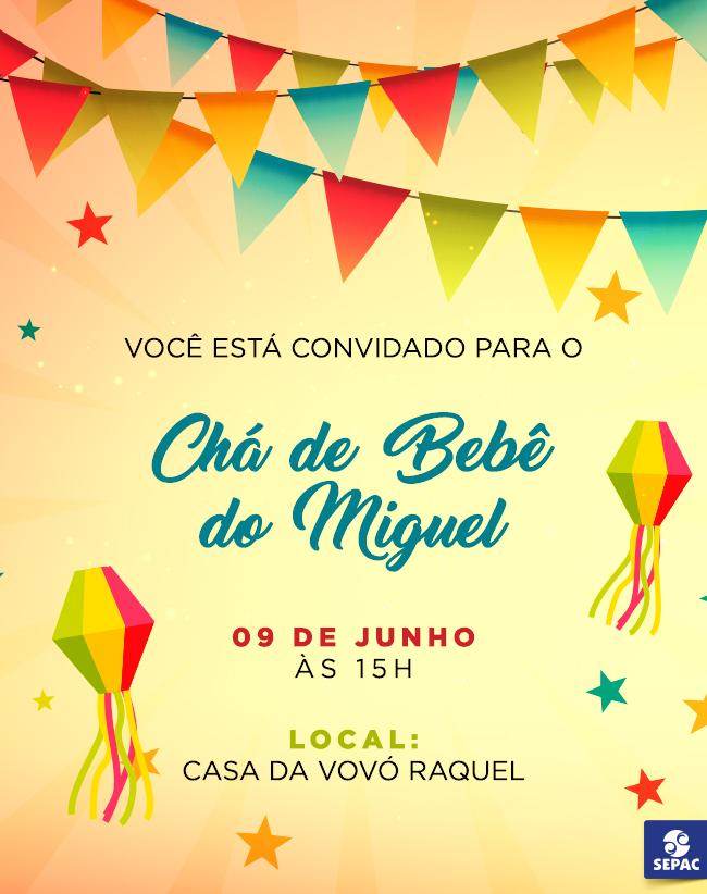 Convite Chá de Bebê Junino - BabyBoo